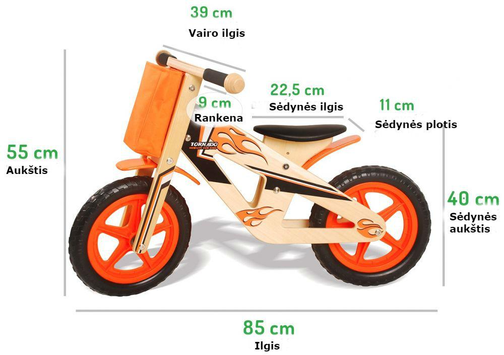 Medinis balansinis dviratukas
